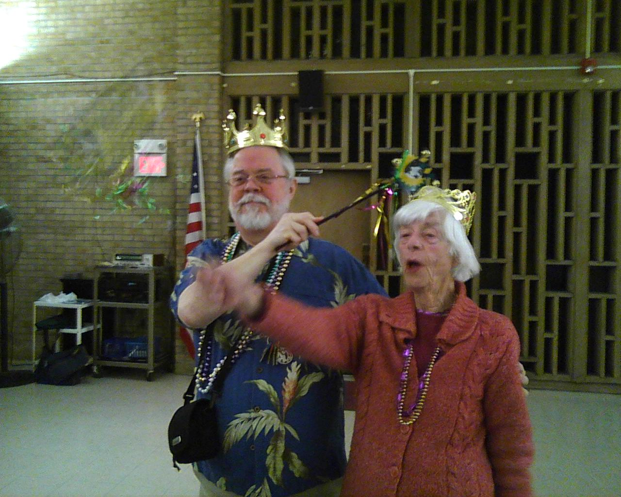 Father Scott and Wilma, King and Queen