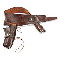 Guide Gear Buscadero Single Action Leather Holster Belt