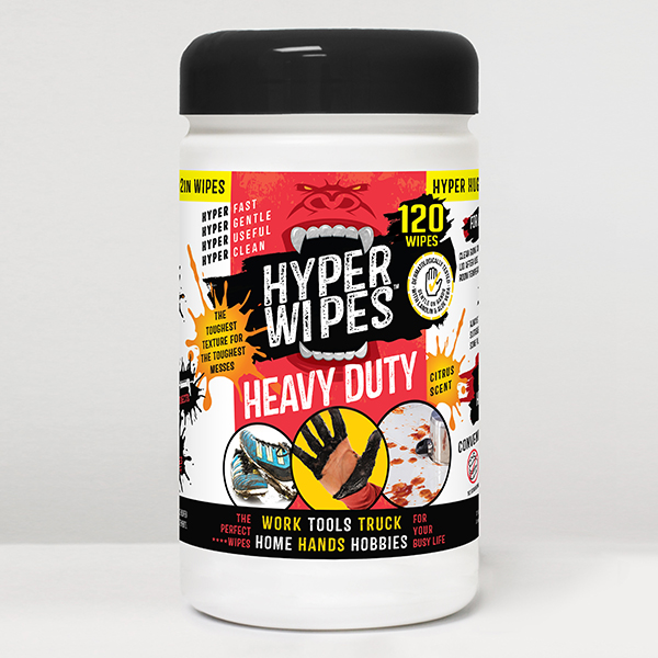 Hyper Wipes Heavy Duty Wipes Canister