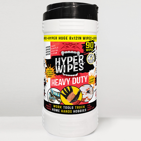 Hyper Wipes Heavy Duty Wipes Canisters