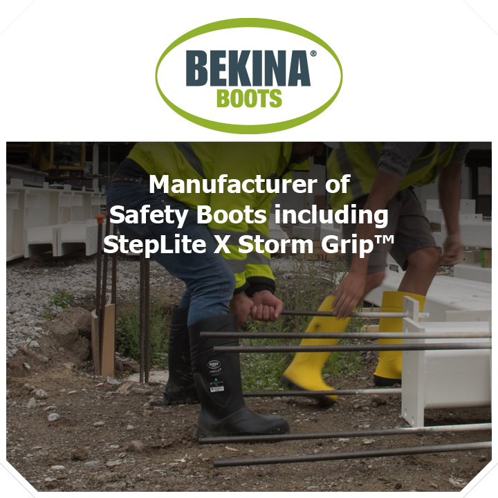 Thundercat Marketing represents Bekina Boots: Manufacturer of safety boots including StepLite X Storm Grip™