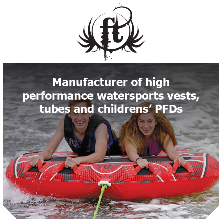 Thundercat Marketing represents Full Throttle: Manufacturer of high-performance watersports vests, tubes and PFDs