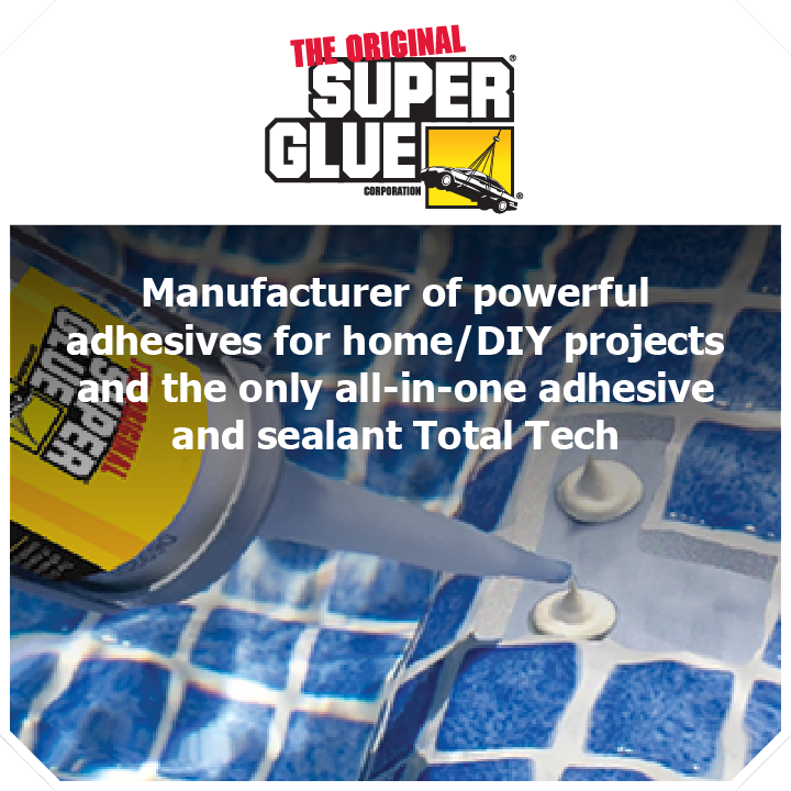 Thundercat Marketing represents The Original SuperGlue: Manufacturer of powerful adhesives for home/DIY projects and the only all-in-one adhesive and sealant Total Tech