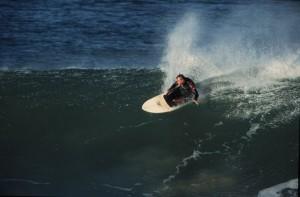 Craig Peterson surfing J-Bay