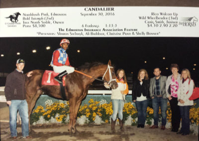 EIA members at Northlands Park with jockey and horse