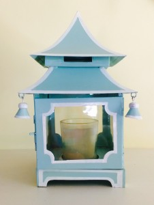 Blue Temple Candle Holder