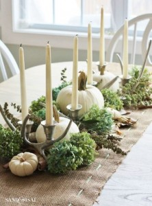 Happy Table Setting for Thanksgiving