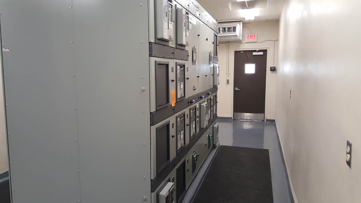 New switchgear installed in remodeled electrical room