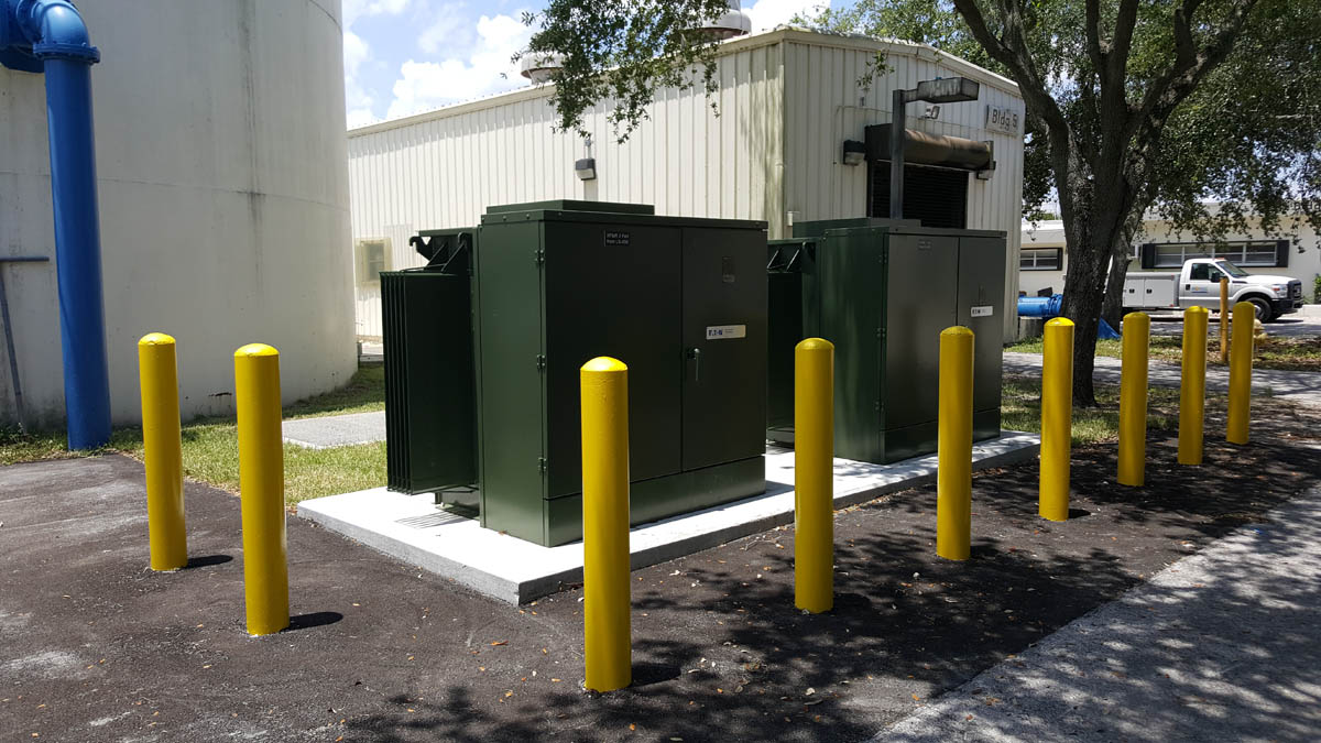 New transformers 5 KV to 480 volt Note manhole in back