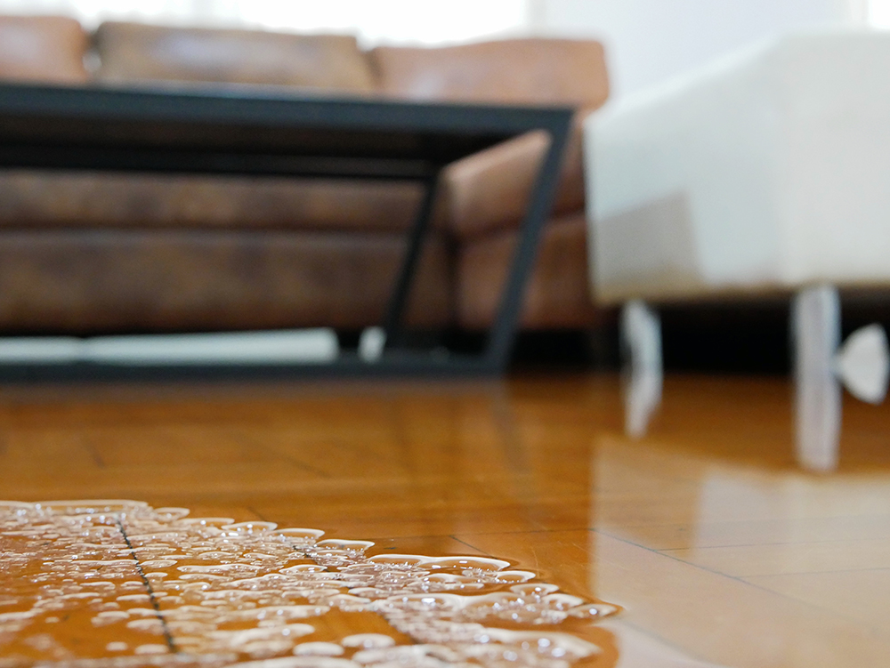Water damage caused by flooding