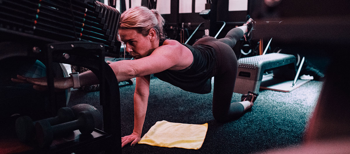 Woman performing a stretch