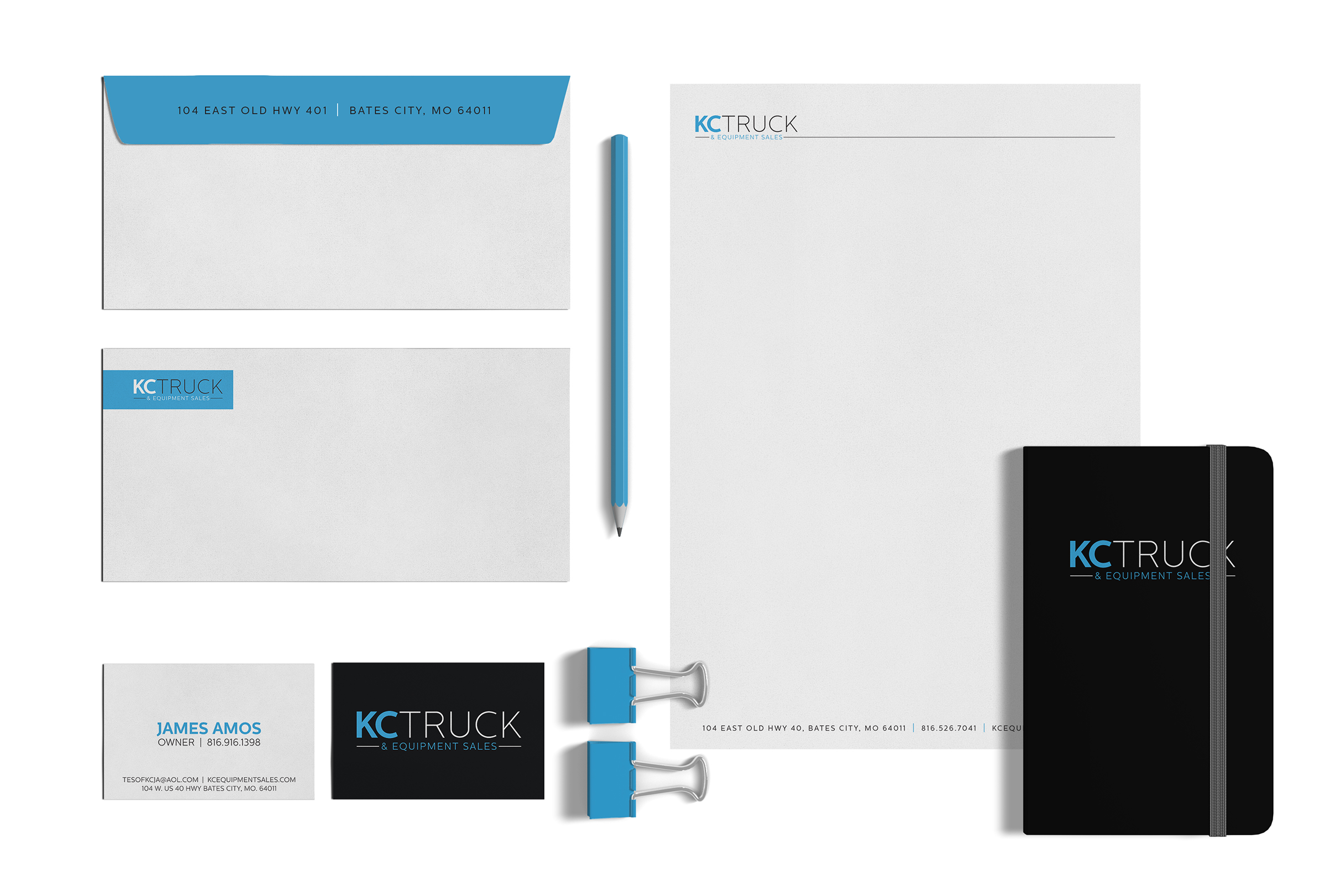 KC Truck & Equipment Company Stationery