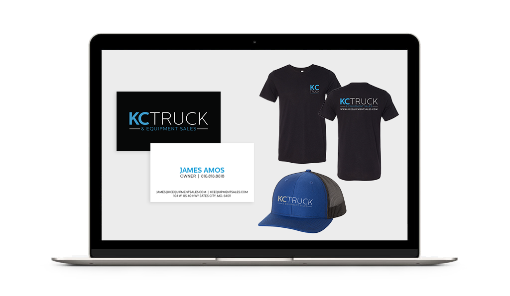KC Truck and Equipment Sales branding elements