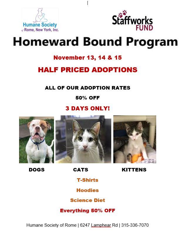 Homeward Bound Program @ Humane Society of Rome