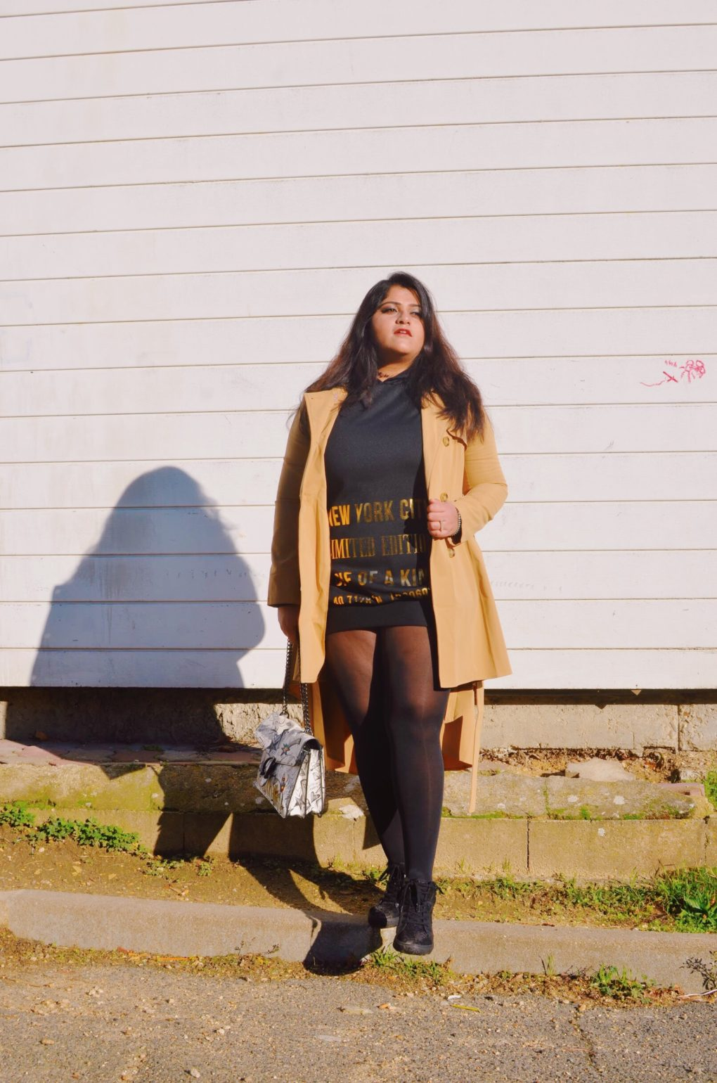 skirt style trench coat TRAVEL STYLE