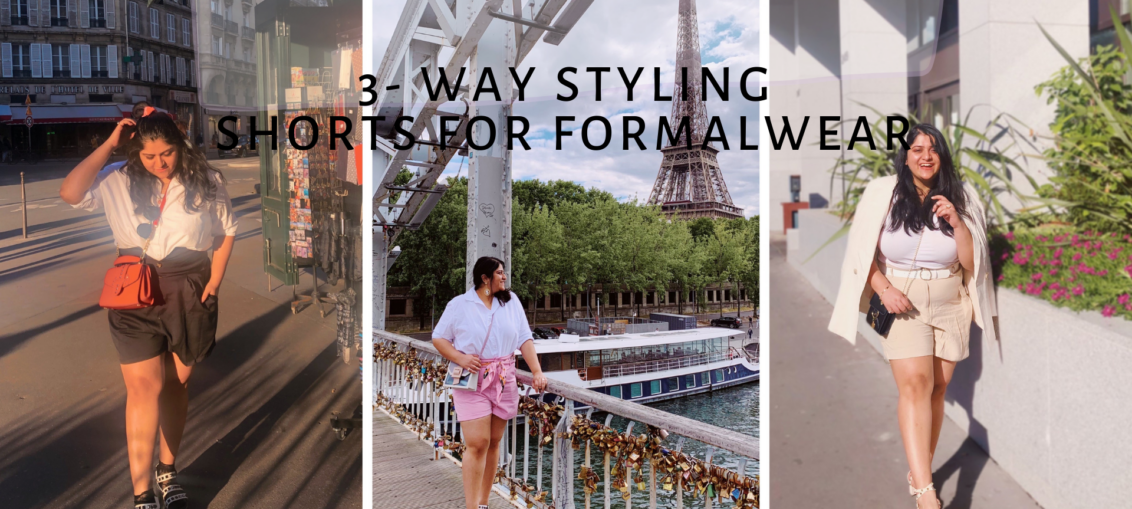 3-way Shorts for Formalwear: Summer must have