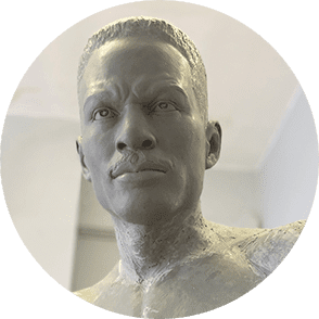 Clay Model of Ezzard Charles Statue
