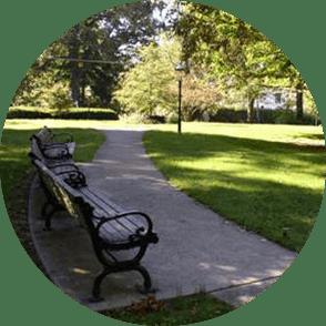 A bench in a Cincinnati park
