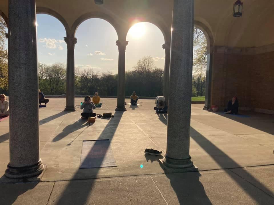 Free yoga in Mt. Echo Park