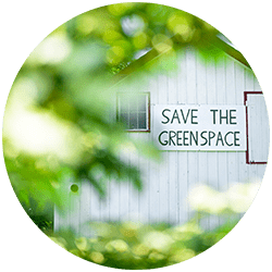 Mt. Adams Save The Green Space signage