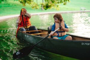 Family Canoeing at a Cincinnati parks Advisory Council event in the park