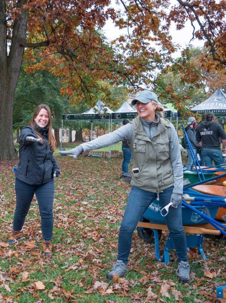 Kara Kish and Jennifer Spieser at Laurel park