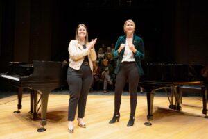 Jennifer Spieser and Kara Kish at a Cincinnati Parks Event