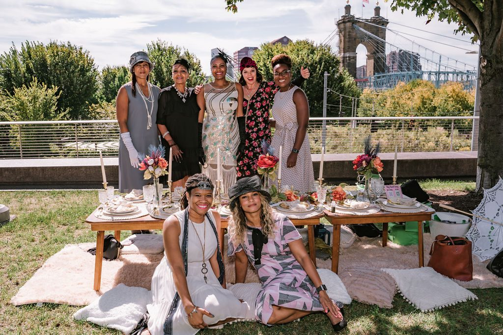 A group of women at the 15th Annual Hats Off Luncheon