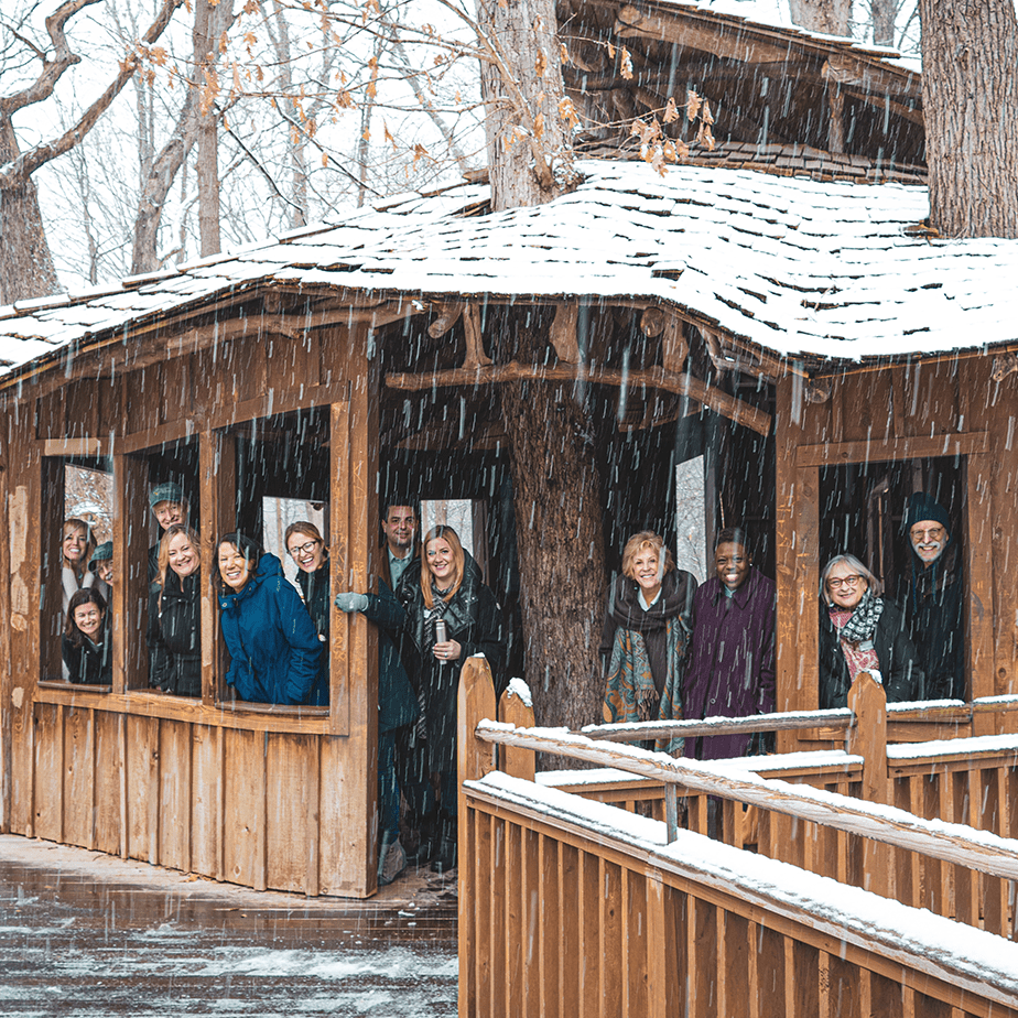 A group of Board members at Everybody's Treehouse
