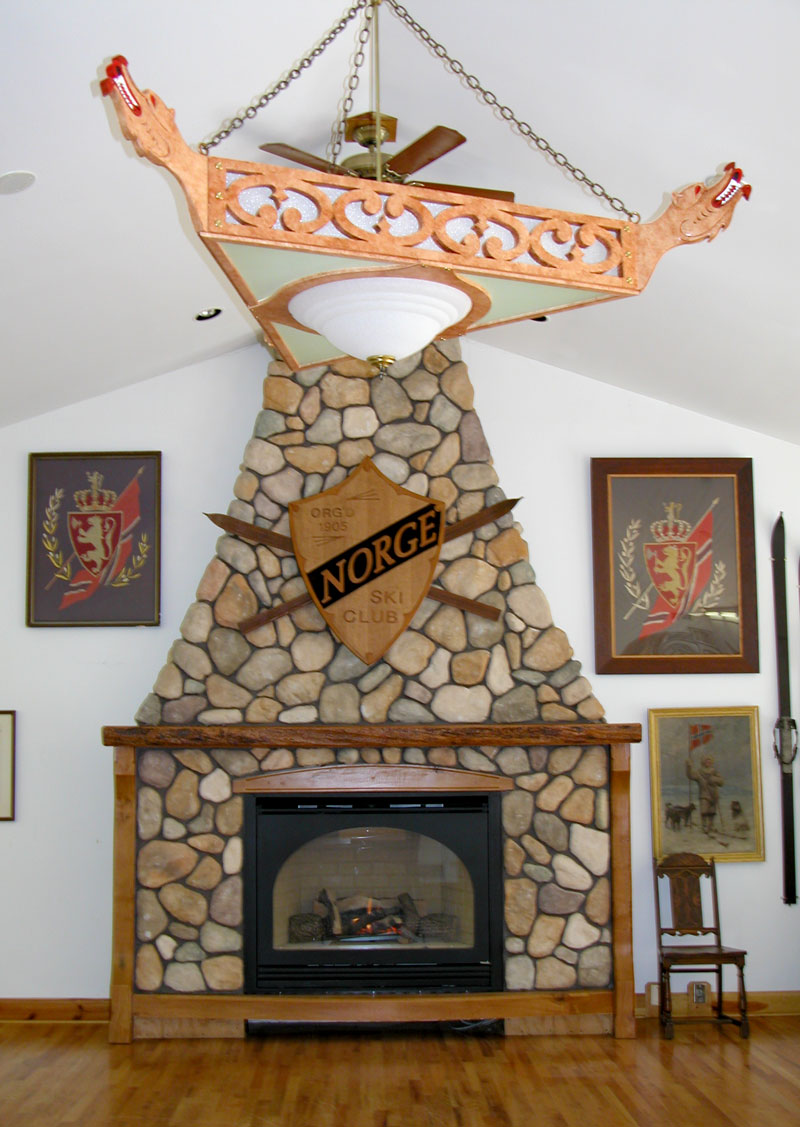 Norge Club House Fireplace