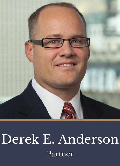 Pictured is attorney Derek E. Anderson, a partner at Kimball Anderson who focuses on Business and Real Estate law.