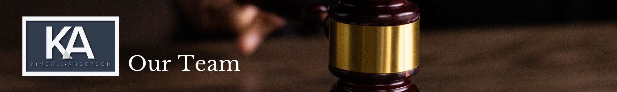 Header for the section containing our team of attorneys.