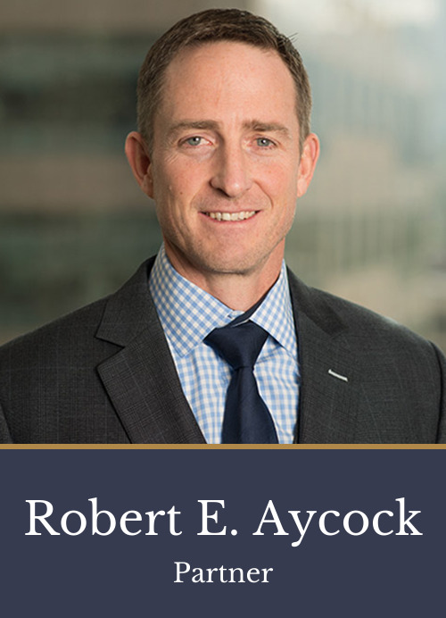 Pictured is attorney Robert E. Aycock, a partner at Kimball Anderson who focuses on Intellectual Property and Litigation.