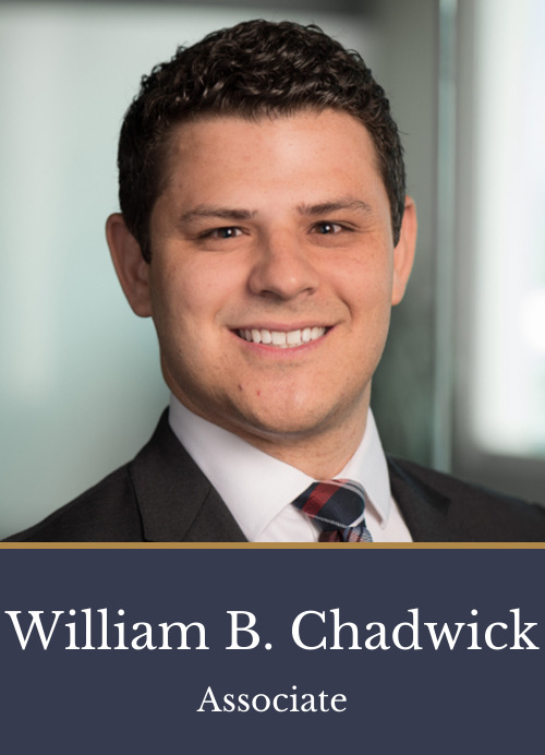 Pictured is attorney William B. Chadwick, an associate at Kimball Anderson who focuses on Intellectual Property and Litigation.