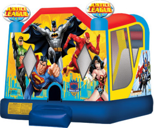 Justice League combo inflatable bounce rental in Centreville Maryland