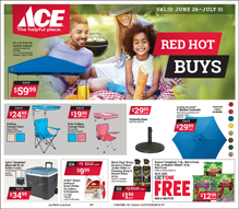 July Red Hot Buy Sales Flyer for Ace Hardware in Centreville, Maryland