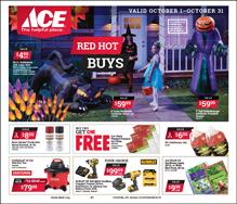 October Red Hot Buy Sales Flyer for Ace Hardware in Centreville, MD