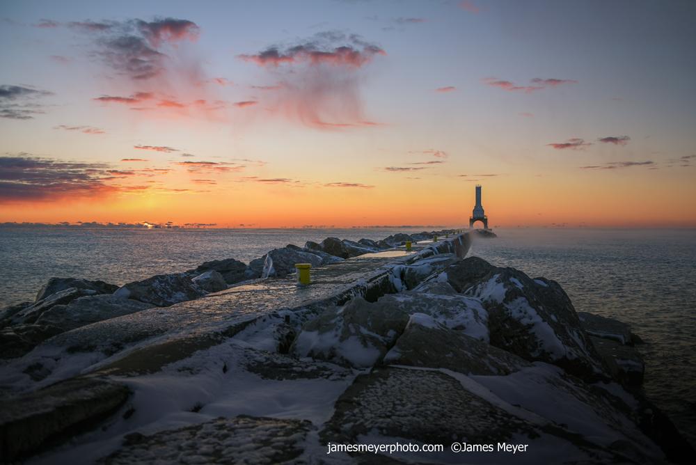 November Sunrise in Port Washington WI III