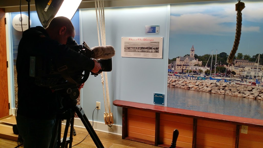 Shooting video at the Port Exploreum in Port Washington WI