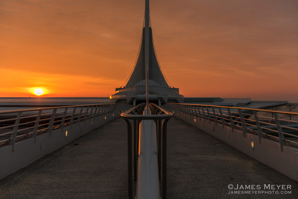 Milwaukee Art Museum sunrise by James Meyer Photography