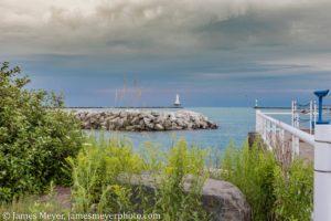 The view of the Port Washington marina from Rotary Park