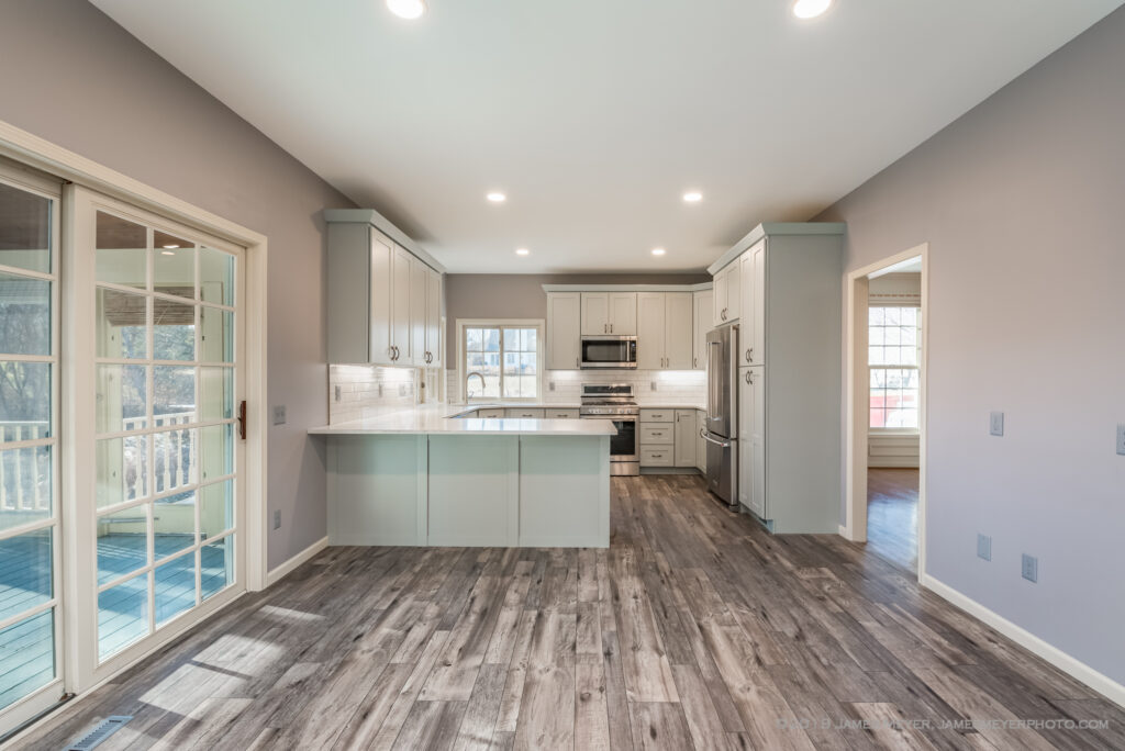 Interiors photography for my remodel client Resilient Realty & Renovation. I highlight how to eliminate bright streaming sunlight that ruins photos.
