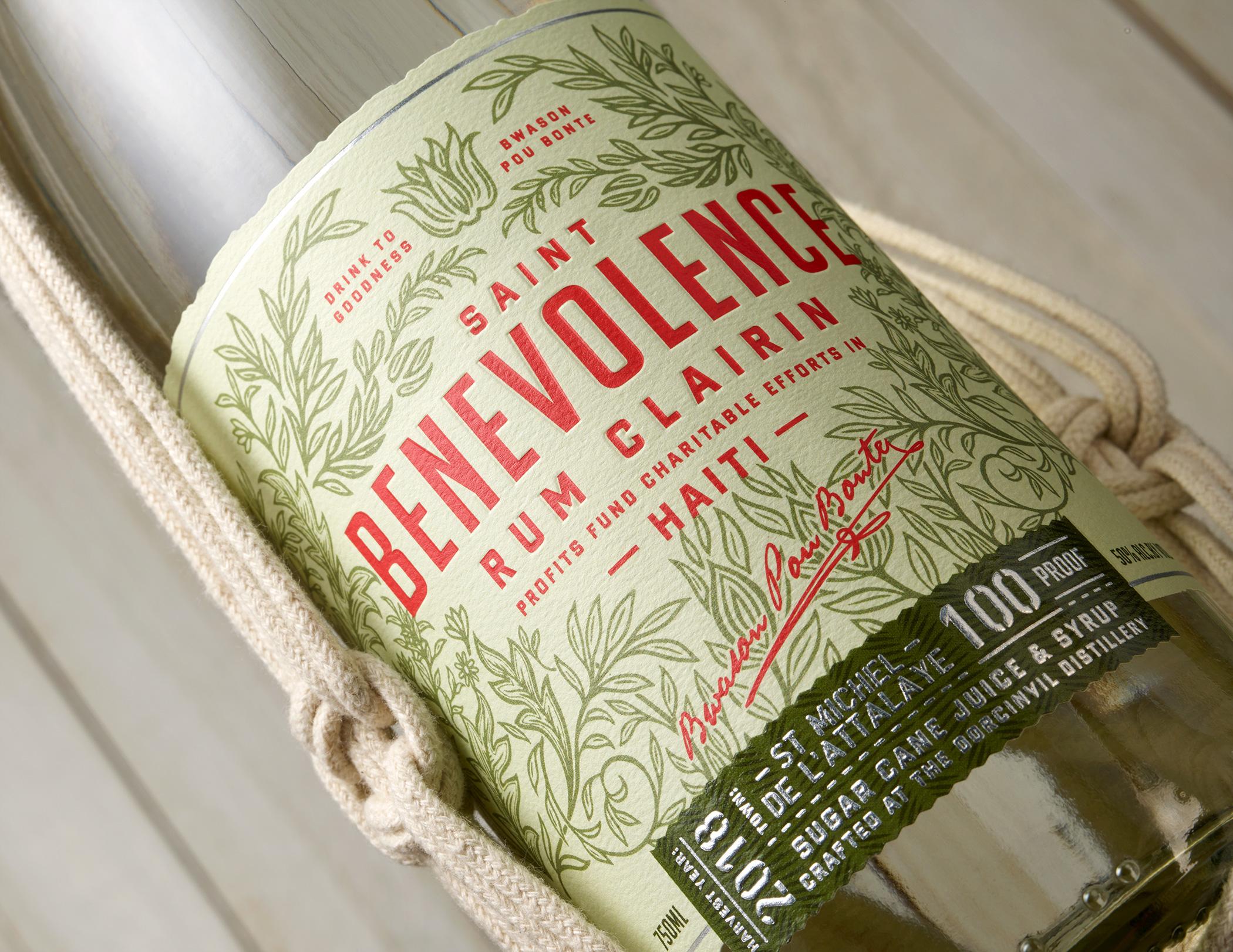 Benevolence Rum Clairin Label