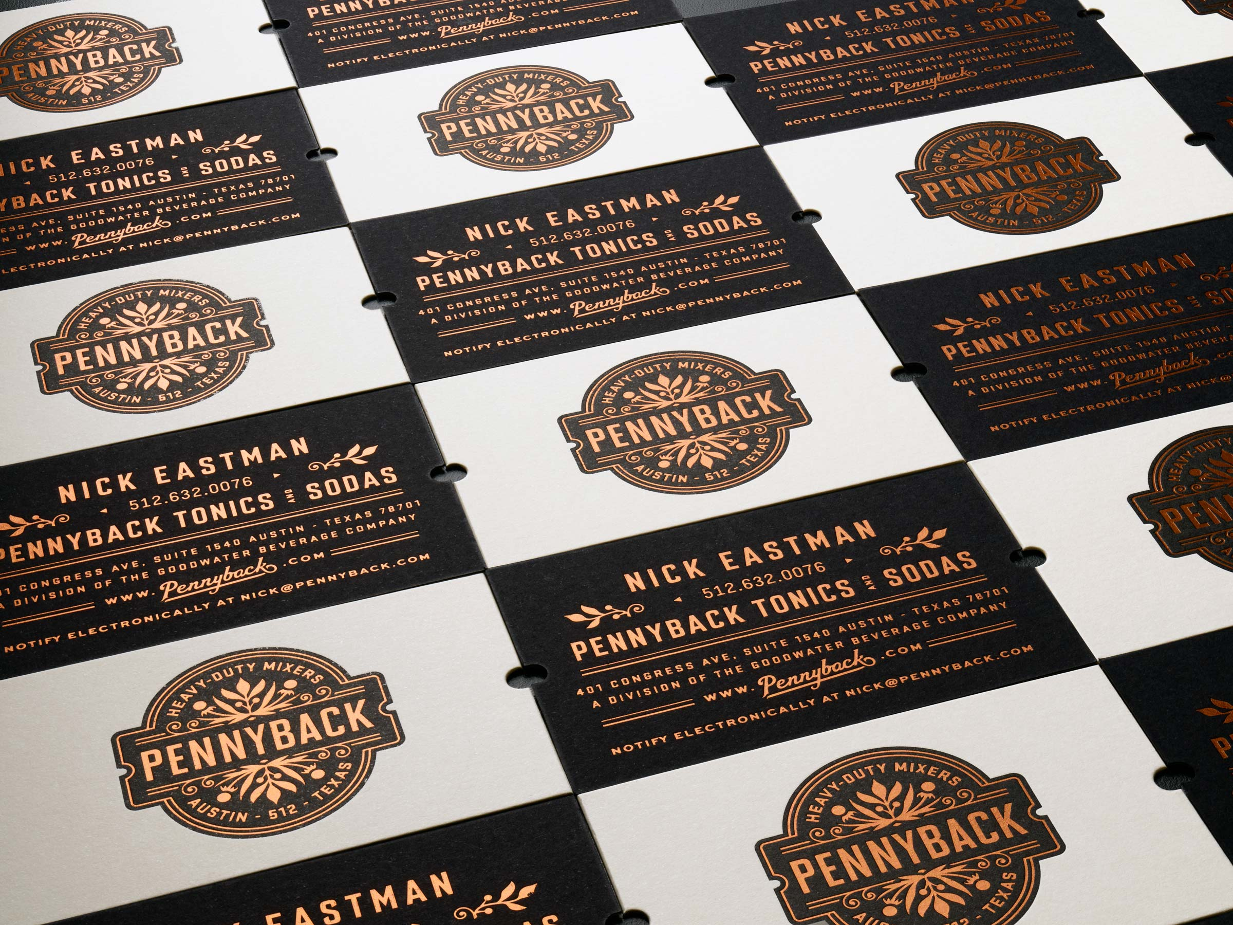 Pennyback Business Cards