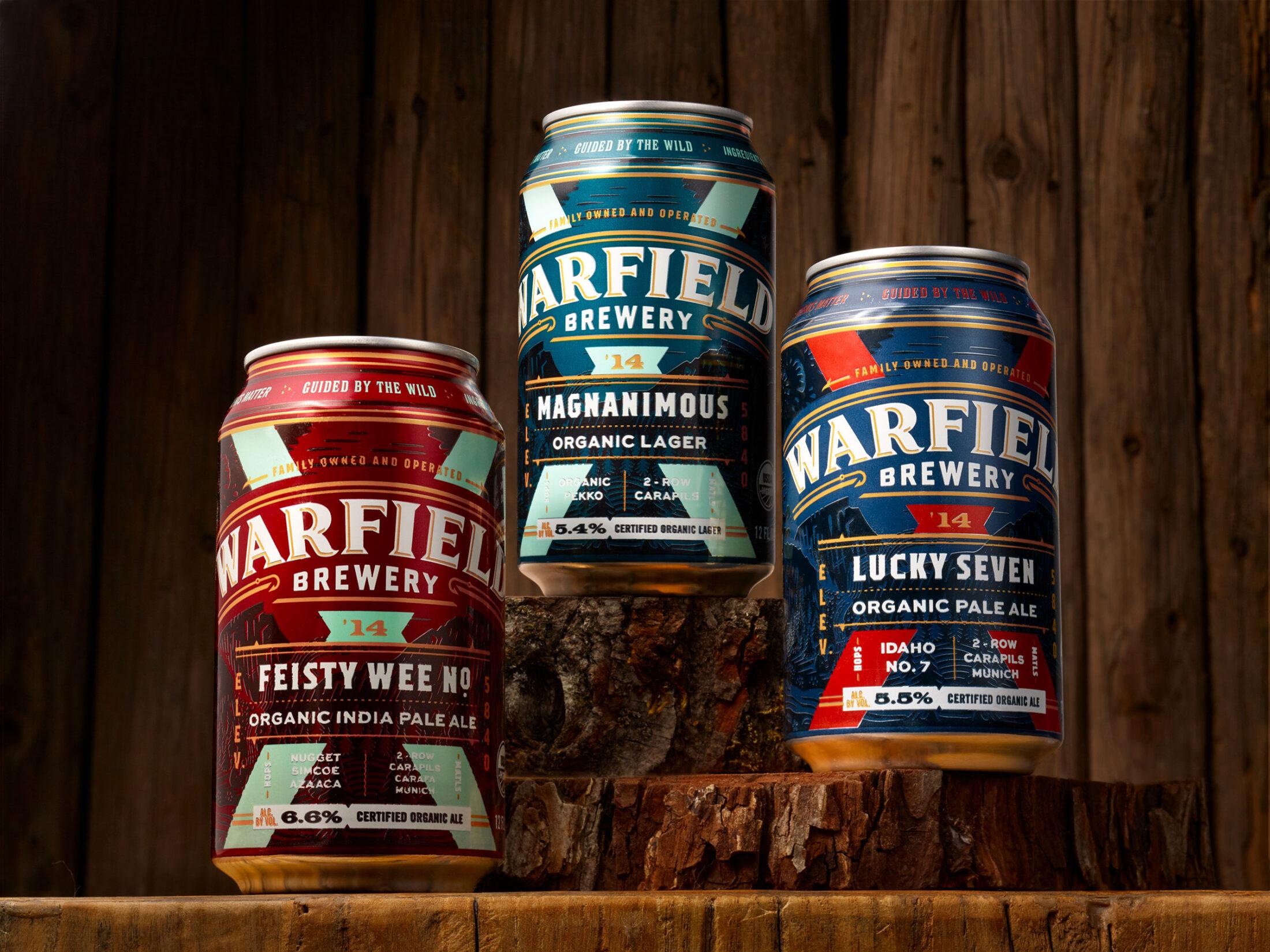 Warfield Brewing package design