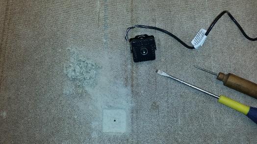 camera on floor