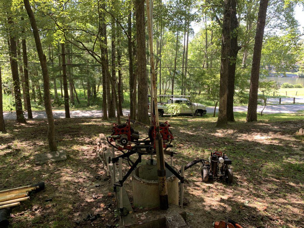 An image of a well pump receiving maintenance