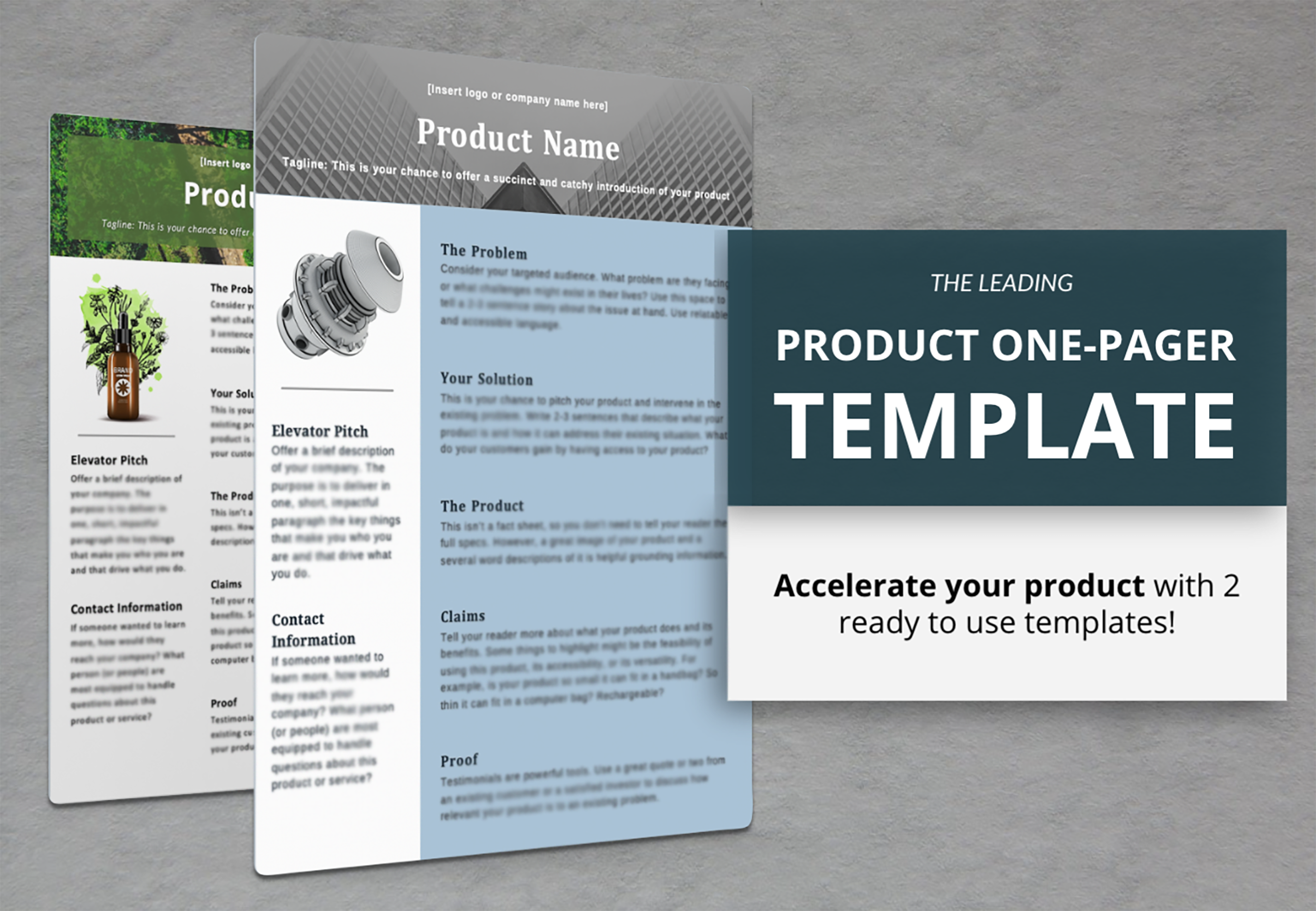 Product Sheet Templates