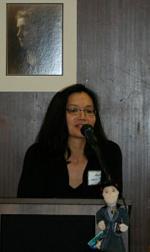 Me speaking at Jane Addams ceremony.