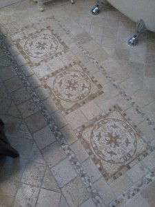travertine floor by Terrazzo Creations Inc